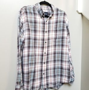 Men's St John's Bay Plaid Shirt Size Large